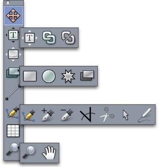 QuarkXpress palette tools Tools
