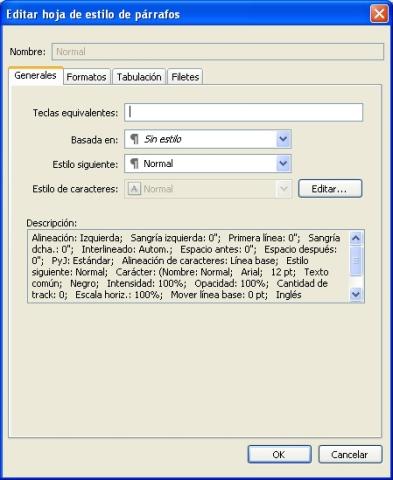QuarkXpress db edit paragraph style sheet Creación y edición de hojas de estilo de párrafos