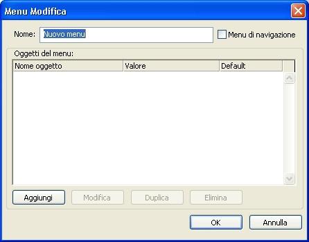 QuarkXpress db edit menu standard Creazione di un menu standard