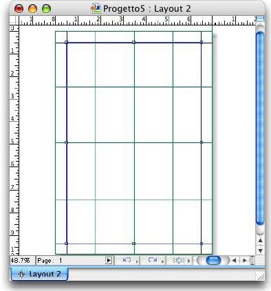 QuarkXpress example guides grid Creazione di griglie con Guide Manager Pro