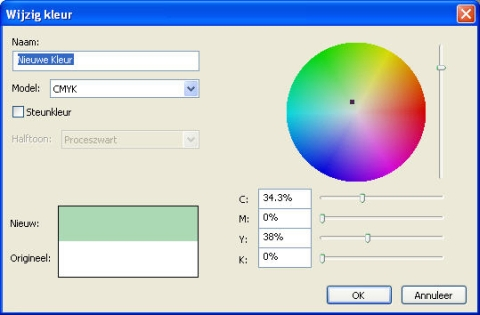 QuarkXpress db edit color Een kleur wijzigen
