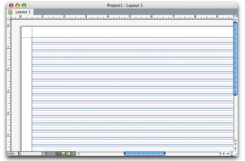 QuarkXpress example master page grid W Basispaginastramienen en tekstkaderstramienen