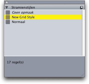 QuarkXpress pal grid styles W Een stramienstijl toekennen aan een tekstkader