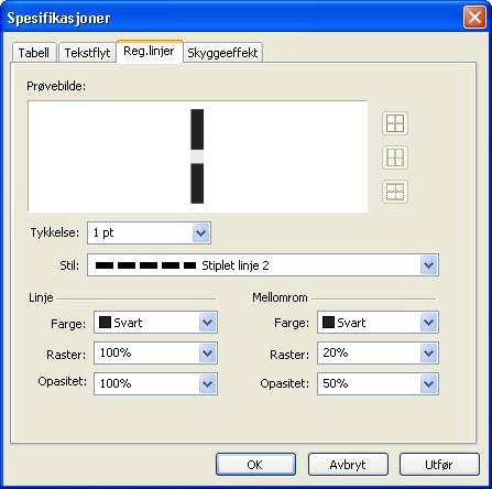 QuarkXpress db modify grid Formatere registerlinjer