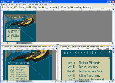 QuarkXpress example split window Dele et vindu