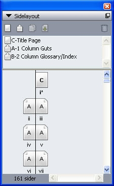 QuarkXpress pal page layout Paletten Sidelayout