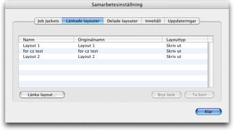 QuarkXpress db link layout after Länka till en komponeringslayout i ett annat projekt