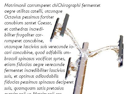 QuarkXpress example runaround Använda textinfällning