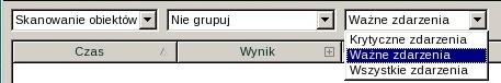 Rescue Disk by importanse Wybór typu zdarzenia