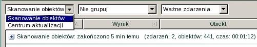 Rescue Disk choose task Wybór zadania do tworzenia raportu