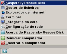 Rescue Disk menu krd Barra de tarefas