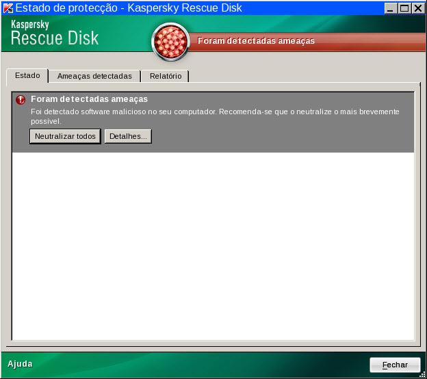 Rescue Disk sost zash rus Estado da protecção do computador