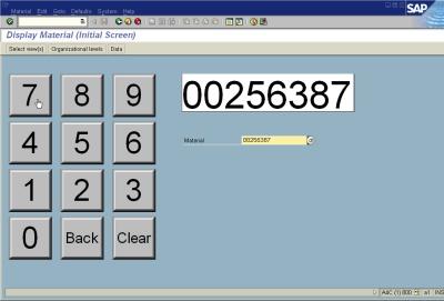 Sap Guixt sample026 Display a numeric keypad