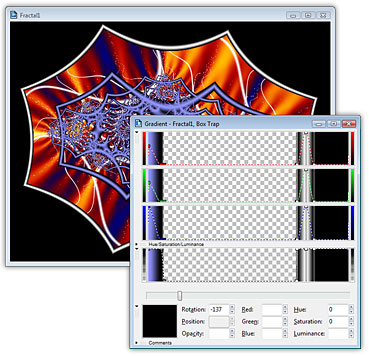 Ultra Fractal boxtrap Fine tuning the gradient