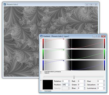 Ultra Fractal graytia Editing the gradient