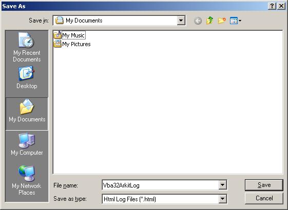 Vba32 AntiRootkit save as Сбор информации о состоянии системы