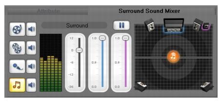 Corel Videostudio audio surround sound Mixing audio tracks