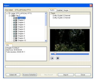 Corel Videostudio capture importdvd The Capture Step Options Panel