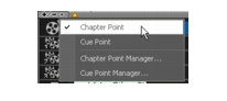 Corel Videostudio chapter cue menu Adding cues and chapters