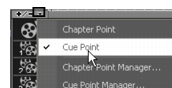 Corel Videostudio chapter cue menu cuepoint Adding cues and chapters