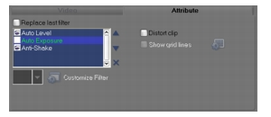 Corel Videostudio edit filter tab Enhancing clips