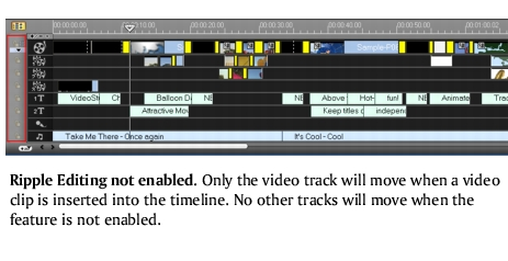 Corel Videostudio edit rippleediting1 Ripple Editing