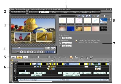 Corel Videostudio gettingstarted ui VideoStudio Editor