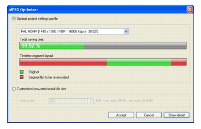 Corel Videostudio intelligent render Optimizing MPEG videos