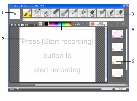 Corel Videostudio overlay paintingcreator ui Painting images and animations using Painting Creator