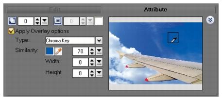 Corel Videostudio overlay panel Enhancing Overlay clips