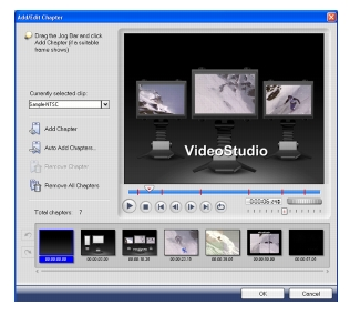 Corel Videostudio share add edit chapter Burning video discs