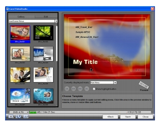 Corel Videostudio share gallery tab Burning video discs