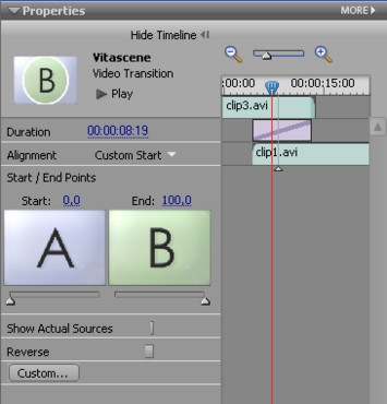 Vitascene eng preElements 5 Plugin as video transition