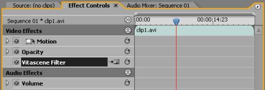 Vitascene eng prePro 2 Plugin as video effect