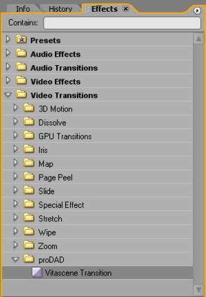 Vitascene eng prePro 3 Plugin as video transition