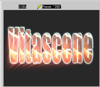 Vitascene eng vita102 Text with Ray filter and Key frames