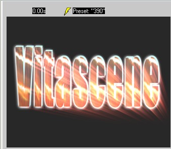 Vitascene eng vita104 Text with Ray filter and Key frames