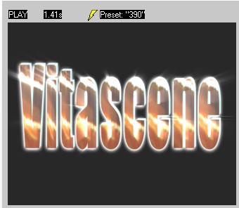 Vitascene eng vita87 Text with Ray filter and Key frames