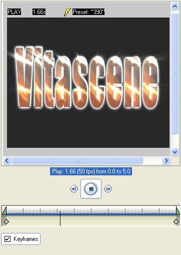 Vitascene eng vita92 Text with Ray filter and Key frames