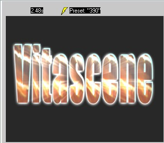 Vitascene eng vita95 Text with Ray filter and Key frames