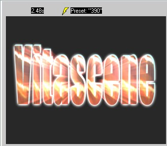 Vitascene eng vita99 Text with Ray filter and Key frames