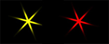 Vitascene starburst farbe Rays