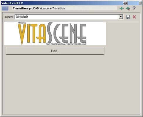 Vitascene vegas trans3 Plugin as video transition