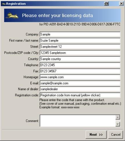 Vitascene Register1a Enregistrement
