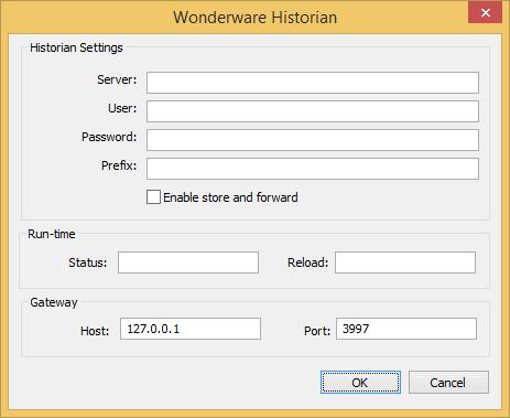 Web Studio Help databases configuration wonderwarehistorian Connect to a Wonderware Historian database