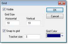Web Studio Help dialog gridsettings Grid Settings