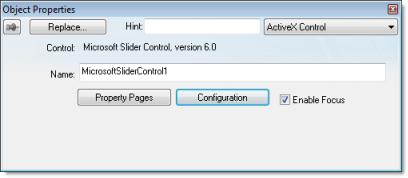 Web Studio Help dialog objectproperties activexcontrol ActiveX Control object