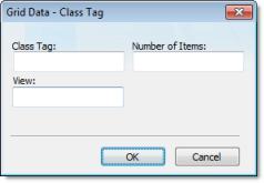 Web Studio Help dialog objectproperties grid datasources classtag Data dialog
