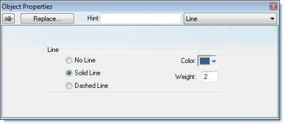 Web Studio Help dialog objectproperties line Line object
