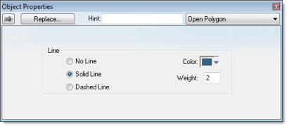 Web Studio Help dialog objectproperties openpolygon Open Polygon object